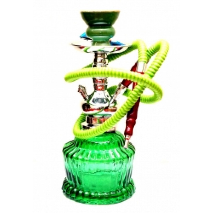 Hookah China with a wide flask Green