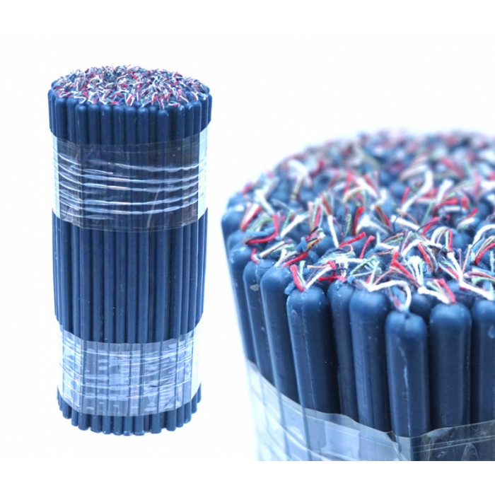 Candles wax magic bunch of 1 kg. Blue