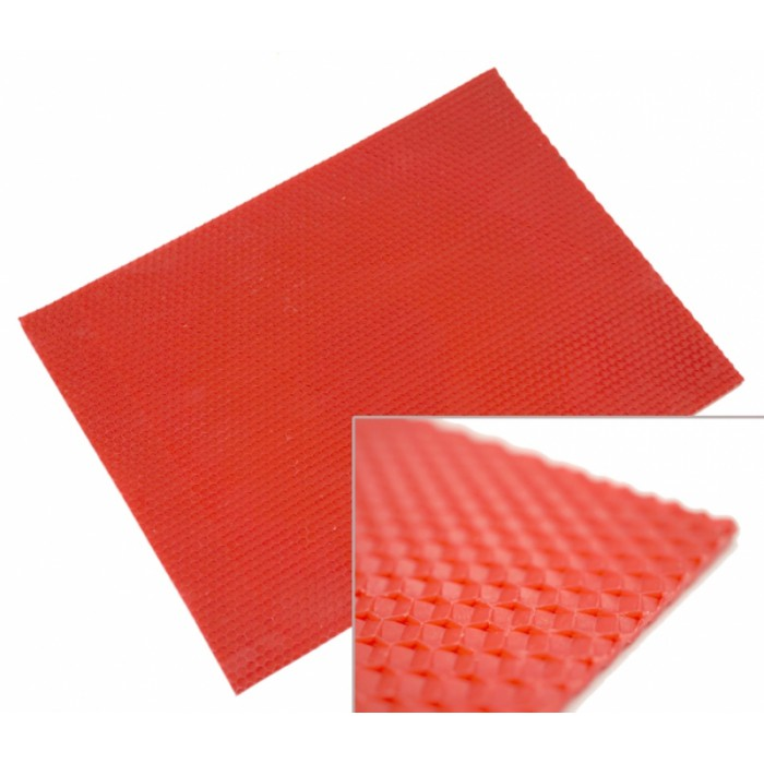 Colored foundation sheet 10 sheets Red