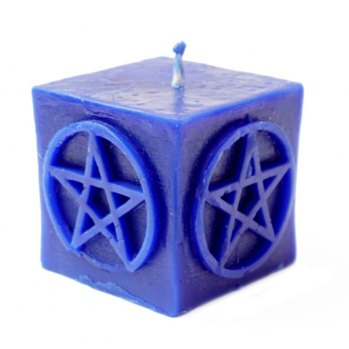 Blue Pentagram Candle