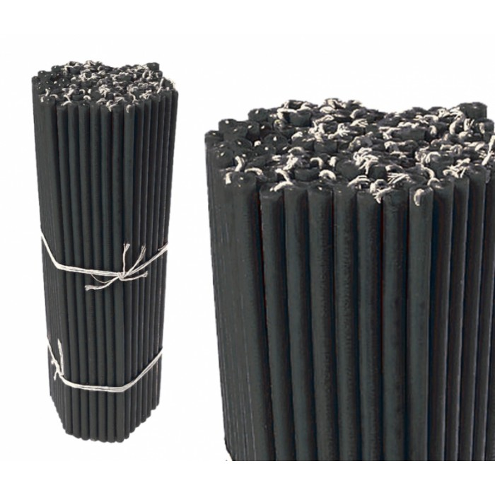 Bunch of wax candles 1 kg. Black №30