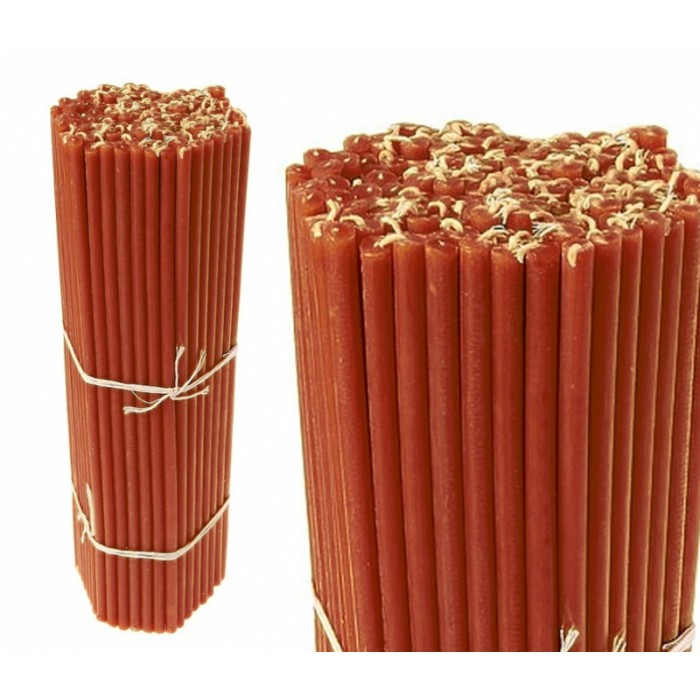 Bunch of wax candles 1 kg. Red No.30