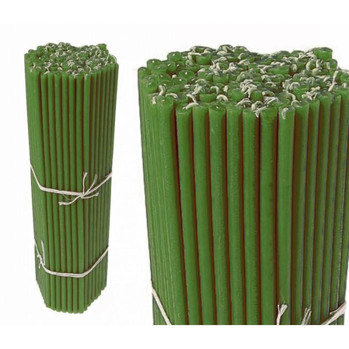 Wax candles bunch Green No. 30
