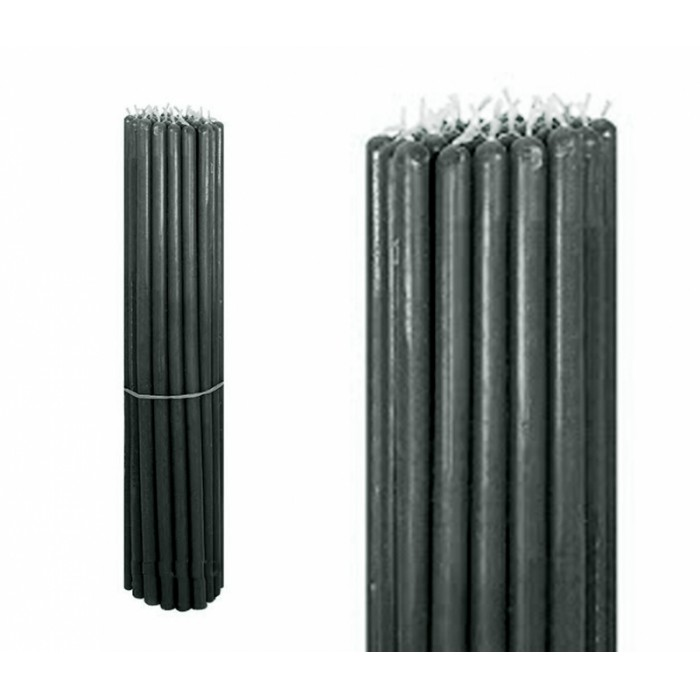 Bunch of wax candles 1 kg. Black №10