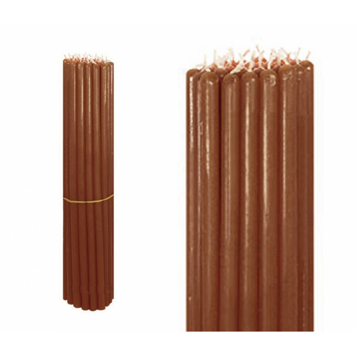 Bunch of wax candles 1 kg. Brown No. 10