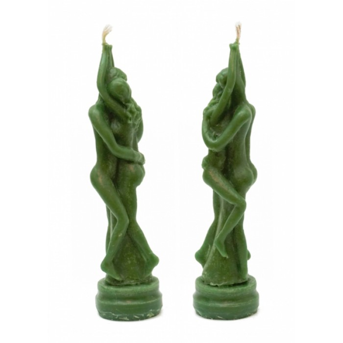 """Wax candle """"Stella of Love"""" Green"""