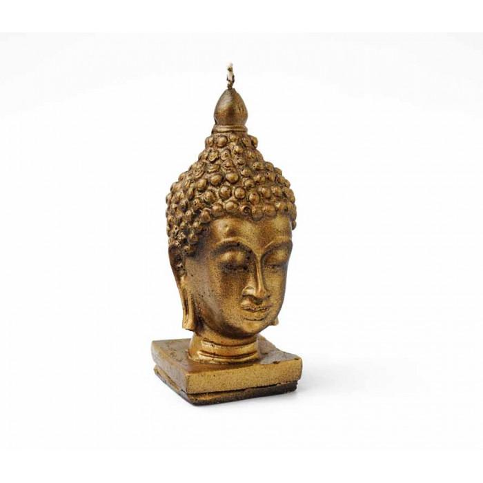 Candle wax Buddha head