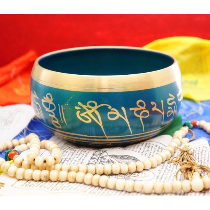 Singing bowl cast Blue 15cm.