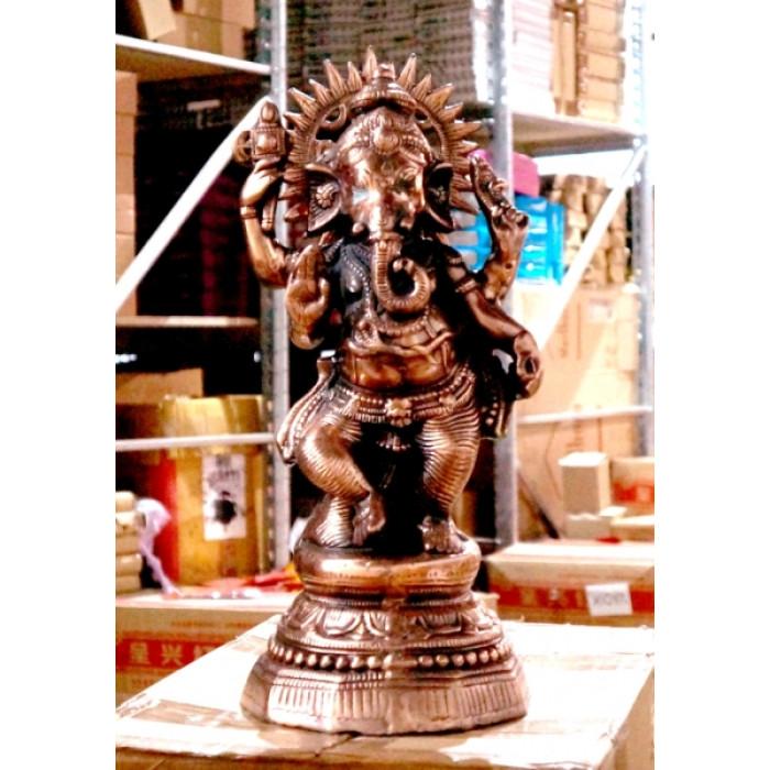 "Statue ""Blown"" Silumin Ganesh"