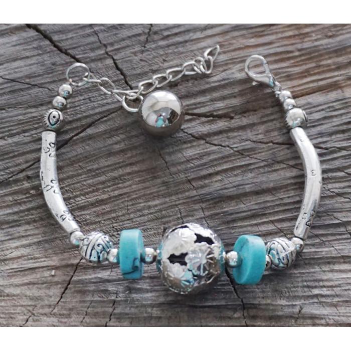 "Bracelet ""Ball"" polymer turquoise"