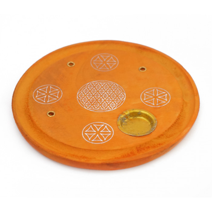 """Stand for aroma sticks and cones """"Flower of Life"""" Orange"""