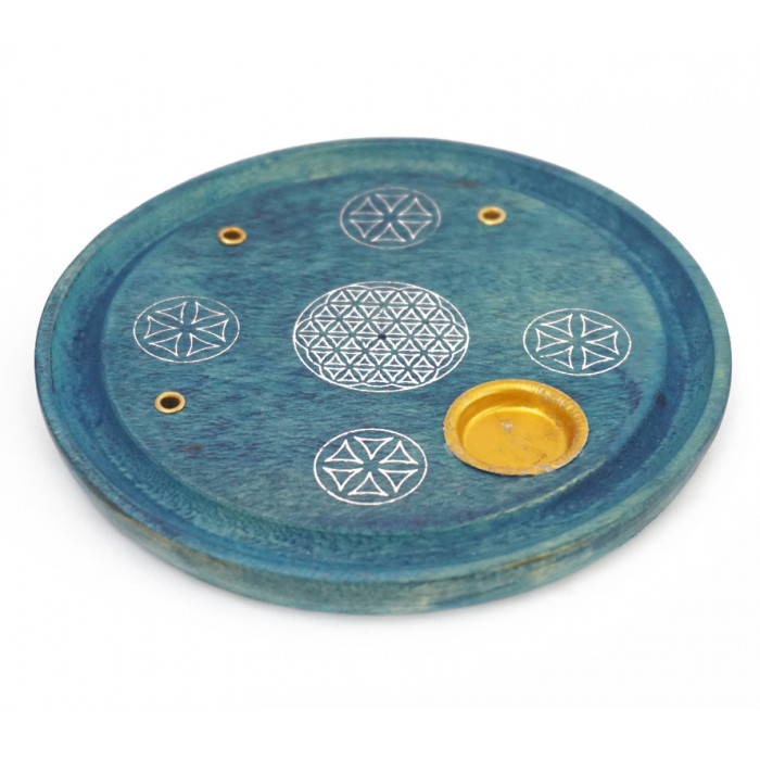 """Stand for aroma sticks and cones """"Flower of Life"""" Blue"""