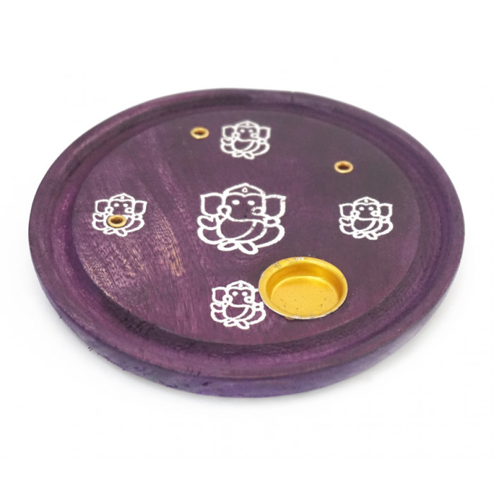 """Stand for aroma sticks and cones """"Ganesh"""" Purple"""