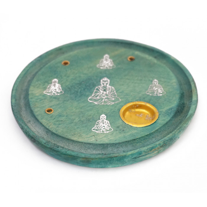 """Stand for aroma sticks and cones """"Buddha"""" Light green"""