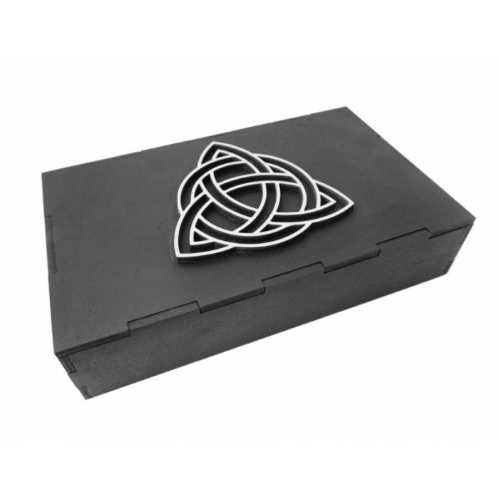 Box Tricwiter for 3 decks of cards (black)