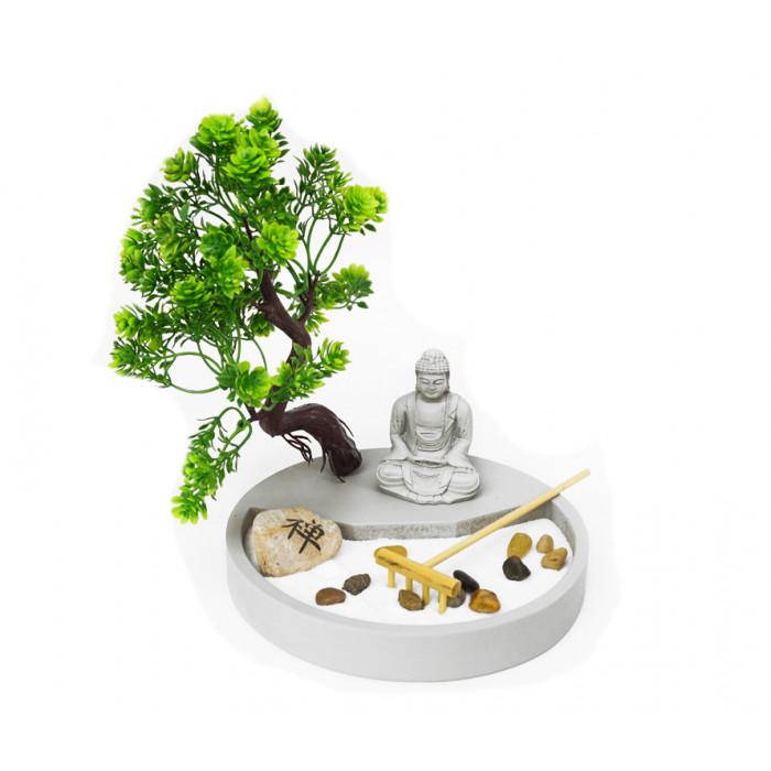 """Zen set """"Rock Garden"""" Buddha under the tree"""