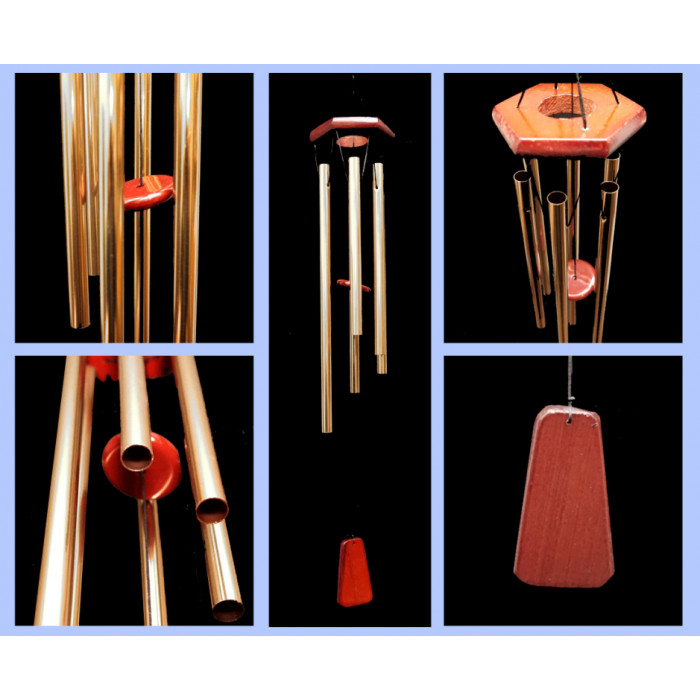 Singing winds 6 tubes Bronze color