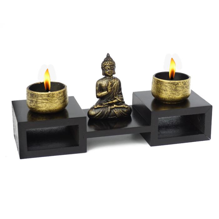Double candlestick Buddha
