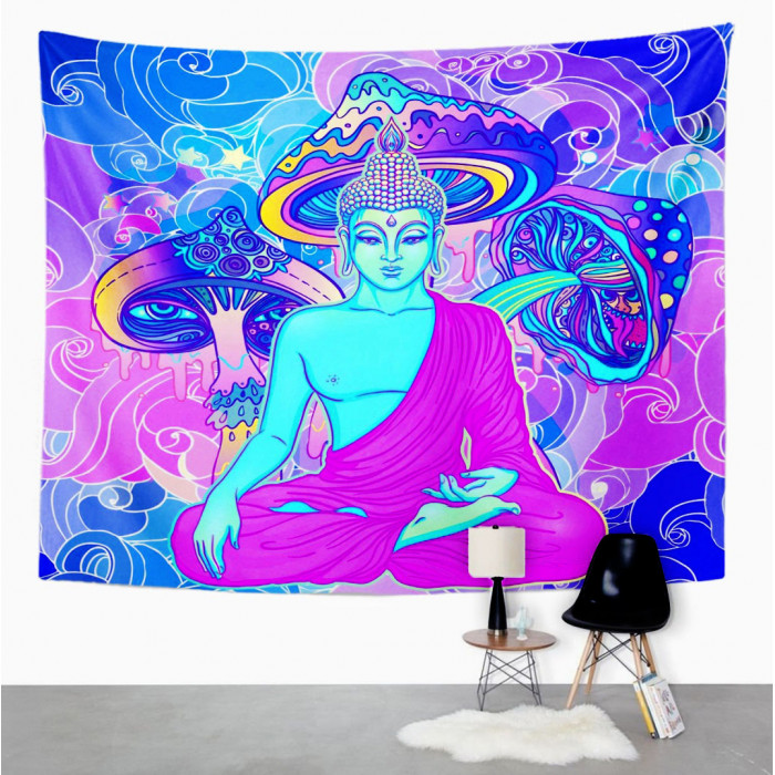 """Wall tapestry """"Buddha in the mushrooms"""" №125"""