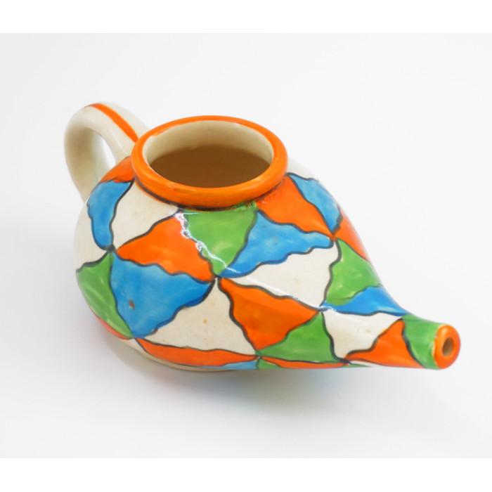 "Ceramic nasal wash kettle ""Neti Pot"" JN-5"