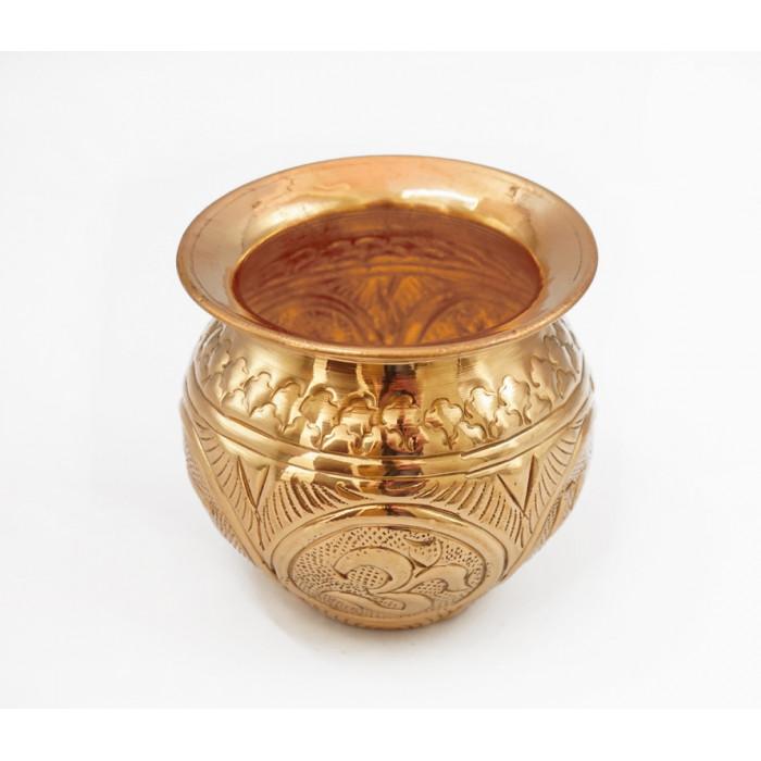 "Copper tape vessel for water ""Swastika Om"" OT-10"