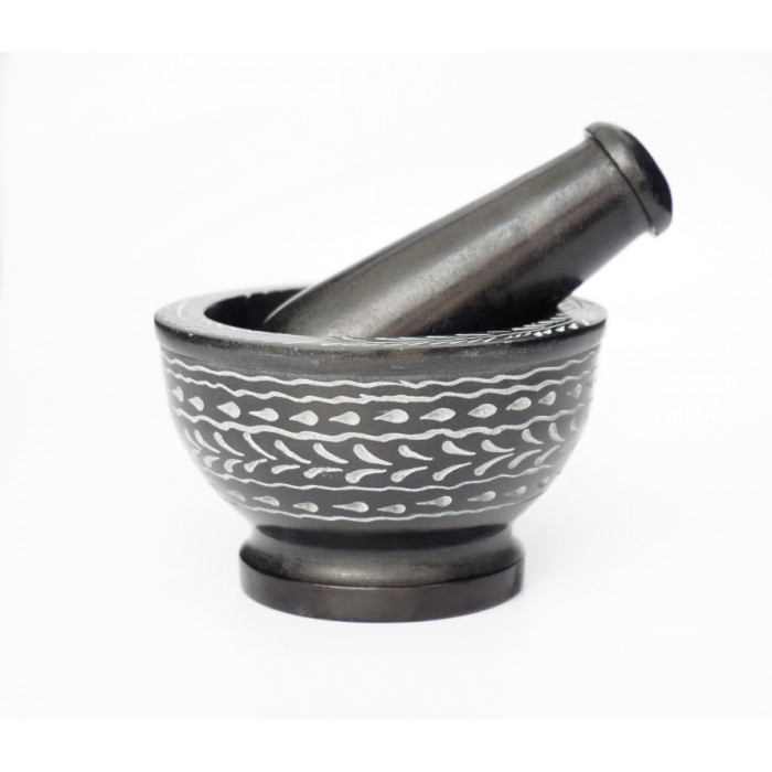 Black marble mortar No. 910