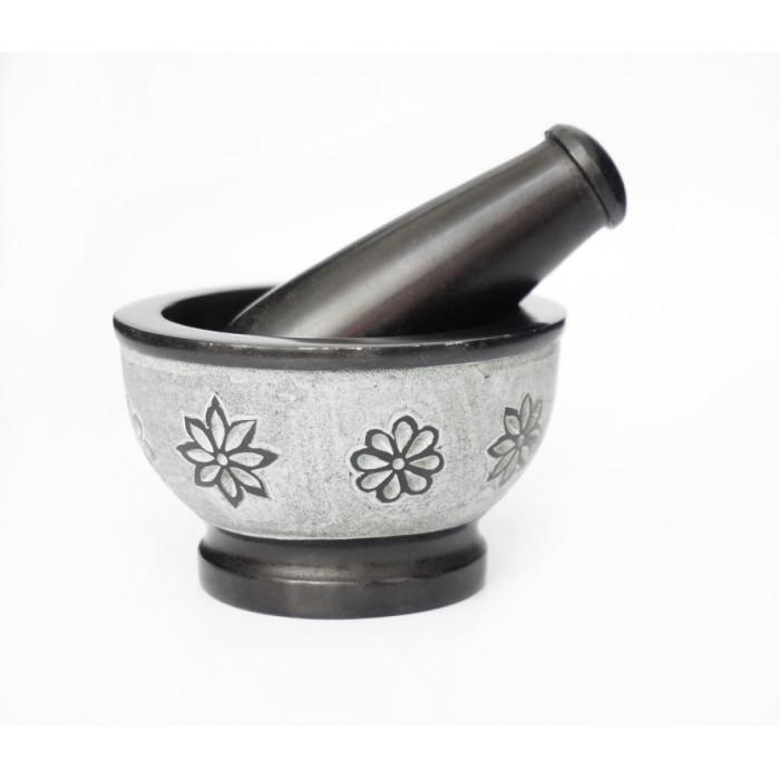 Black marble mortar No. 918
